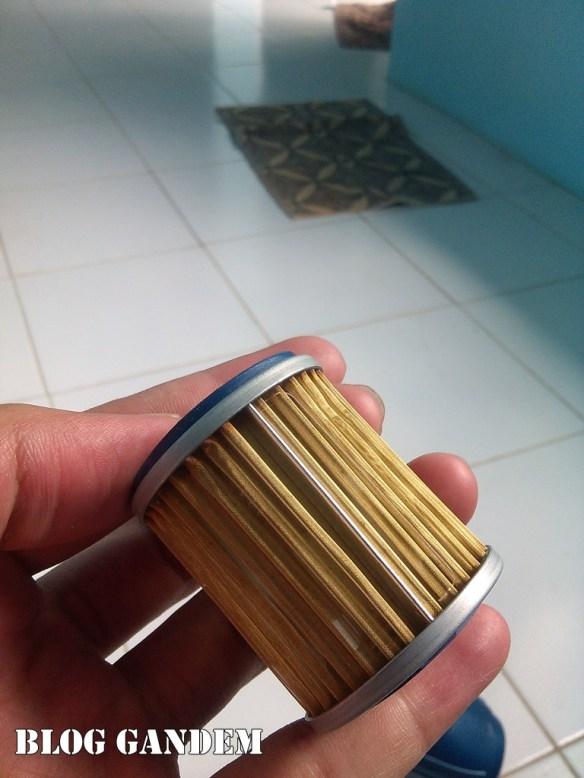 berikut penampakan filter oli scorpio